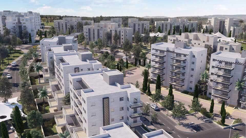 בנייני העיר דורות עילית בהדמייה